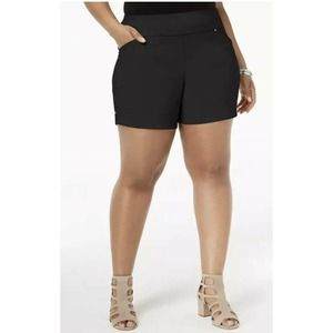 Inc Pull on Mid-Rise Casual Shorts 24W